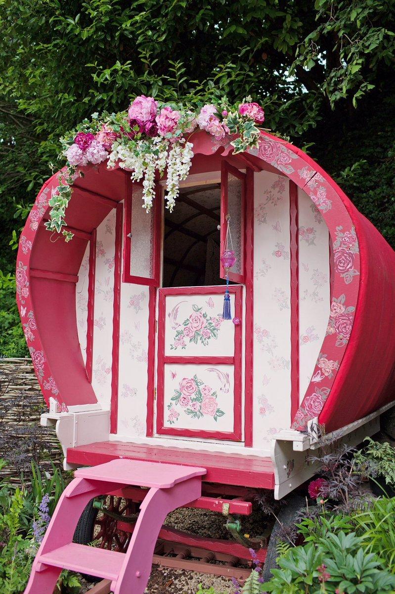 Pearl Lowe's gypsy wagon